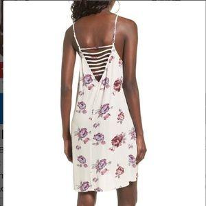 Mimi Chica Strappy Floral Cami Mini Dress Small